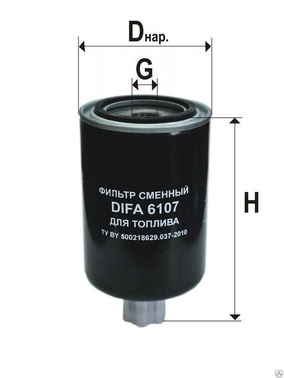 Фильтр топливный КАМАЗ,ПАЗ грубой очистки (дв.CUMMINS 140-20,180-20,210-20) (аналог WK9165x) DIFA