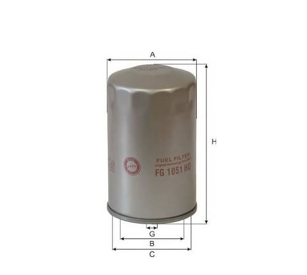 Фильтр топливный КАМАЗ,ПАЗ тонкой очистки (дв.CUMMINS B5.9-180) GOODWILL
