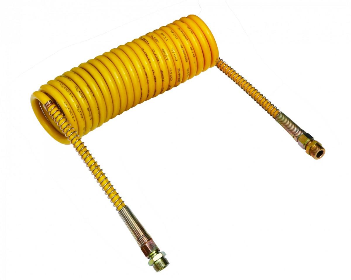 Шланг пневматический витой М22 L=5.5м (желтый) ПРЕМИУМ
