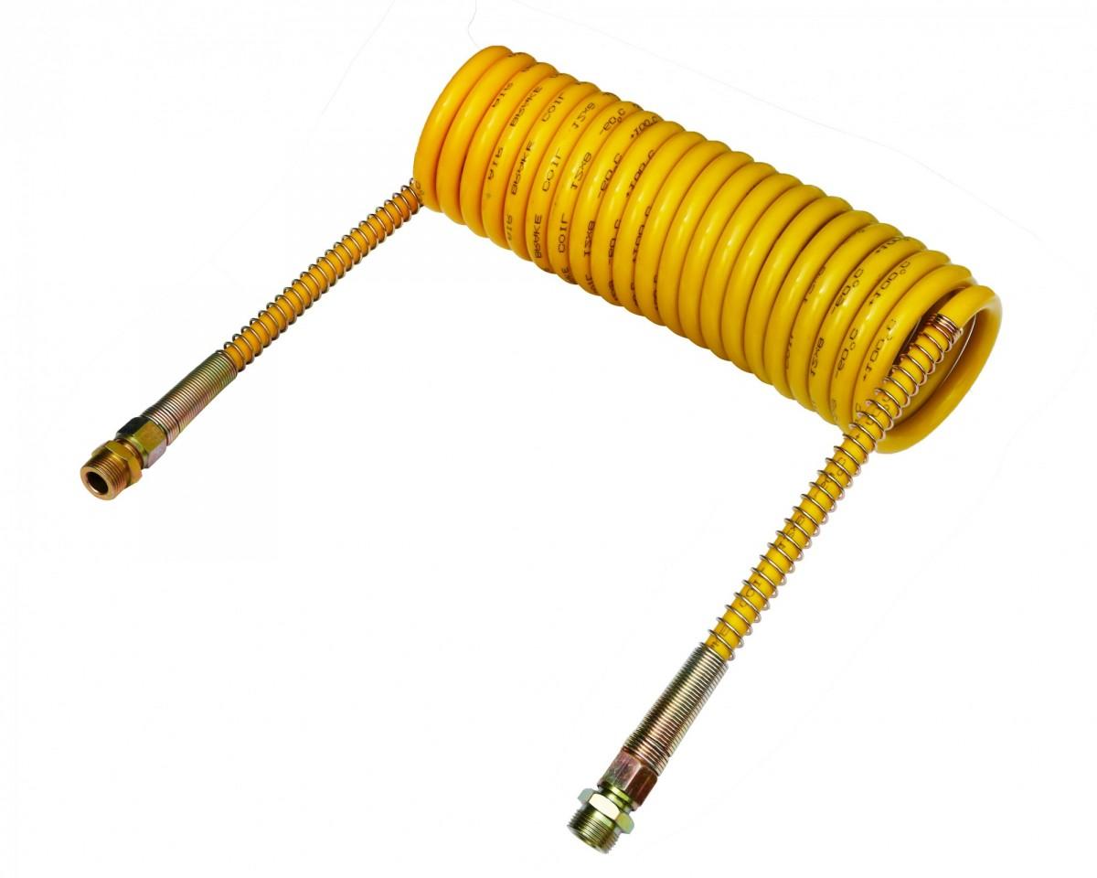 Шланг пневматический витой М22 L=5.5м (желтый) СТАНДАРТ