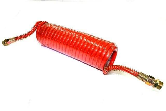 Шланг пневматический витой М22 L=6.5м (красный) ПРЕМИУМ