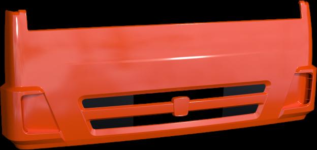 Панель КАМАЗ облицовки радиатора интегральная (рестайлинг) (белый) ТЕХНОТРОН