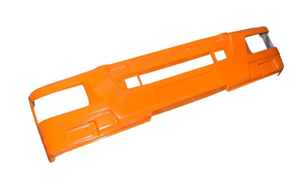 Облицовка буфера КАМАЗ-65115 (рестайлинг) широкая (оранжевый) ТЕХНОТРОН