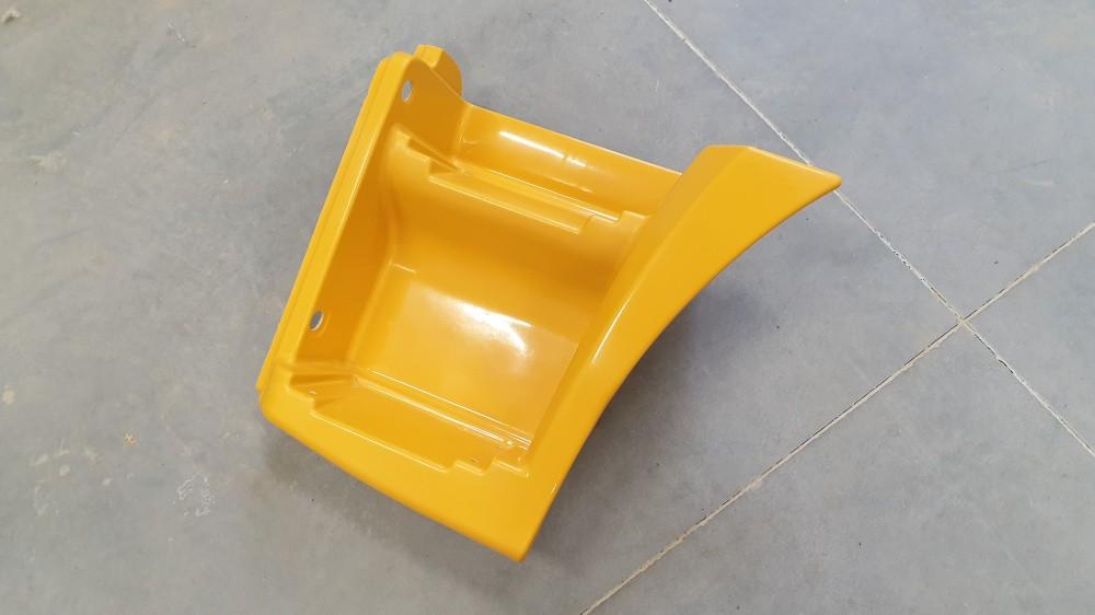Щиток КАМАЗ-65115 подножки левый (рестайлинг) (желтый) ТЕХНОТРОН