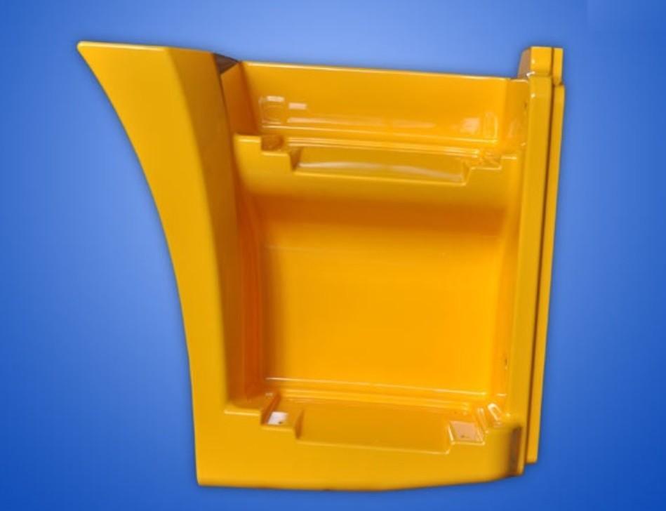 Щиток КАМАЗ-65115 подножки правый (рестайлинг) (желтый) ОАО РИАТ
