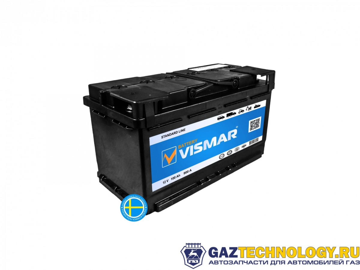 VISMAR STANDART 6СТ-100 L (R+)-(0) 800A 353*175*190