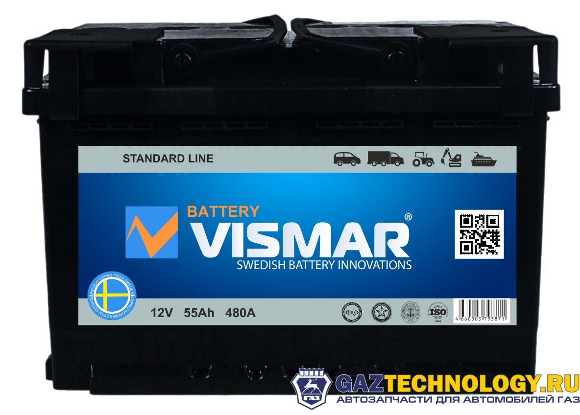 VISMAR STANDART 6СТ-55 L (L+)-(1) 480A 242*175*190